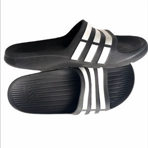 Adidas Slides Striped Black Size 4